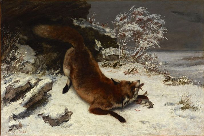 fox_in_the_snow_-_courbet_1860
